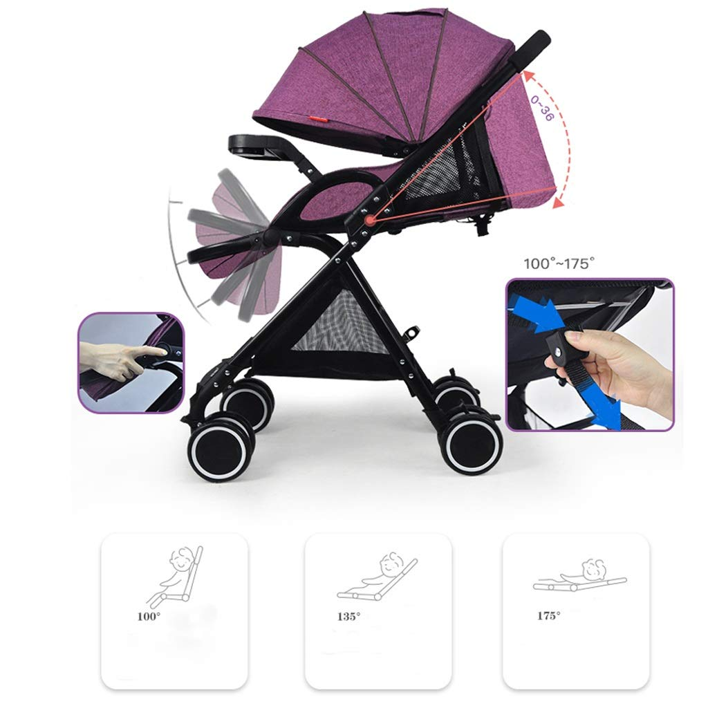 Pushchairs & Prams Color : Blue Baby Stroller Folding Pushchair Lightweight Infant Compact Travel Buggy Foldable Suitable for Airplane Baby Products