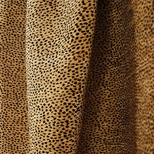 - Siamese Black Tan Leopard Cheetah Upholstery Fabric