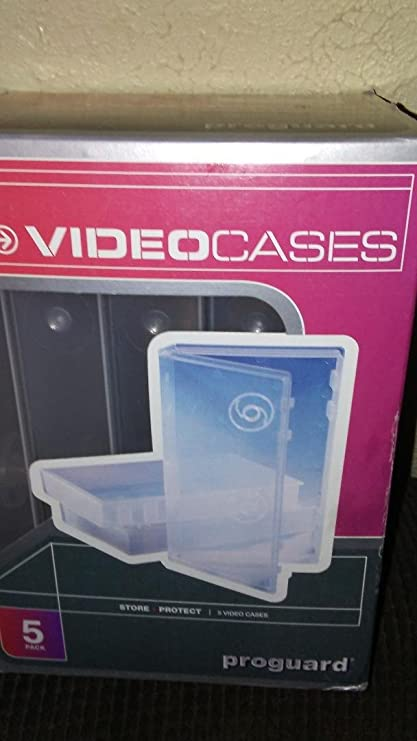 7 VHS Video Storage Boxes clear plastic video tape cases...Brand new!