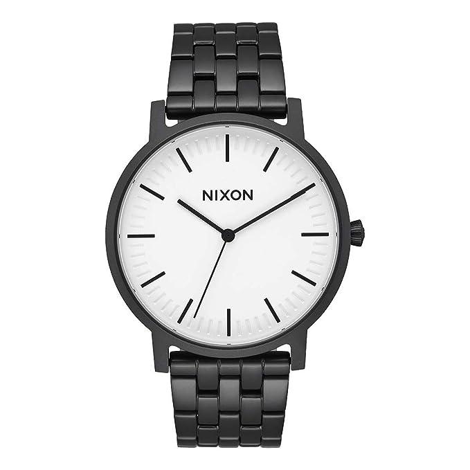 Nixon – Porter 40 mm Matte Black White – Reloj de Pulsera de Hombre a10572493 –
