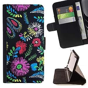 For Samsung Galaxy S6 EDGE (NOT S6) Plus / S6 Edge+ G928 Case , Colores de la tela de moda de ropa Flores- la tarjeta de Crédito Slots PU Funda de cuero Monedero caso cubierta de piel