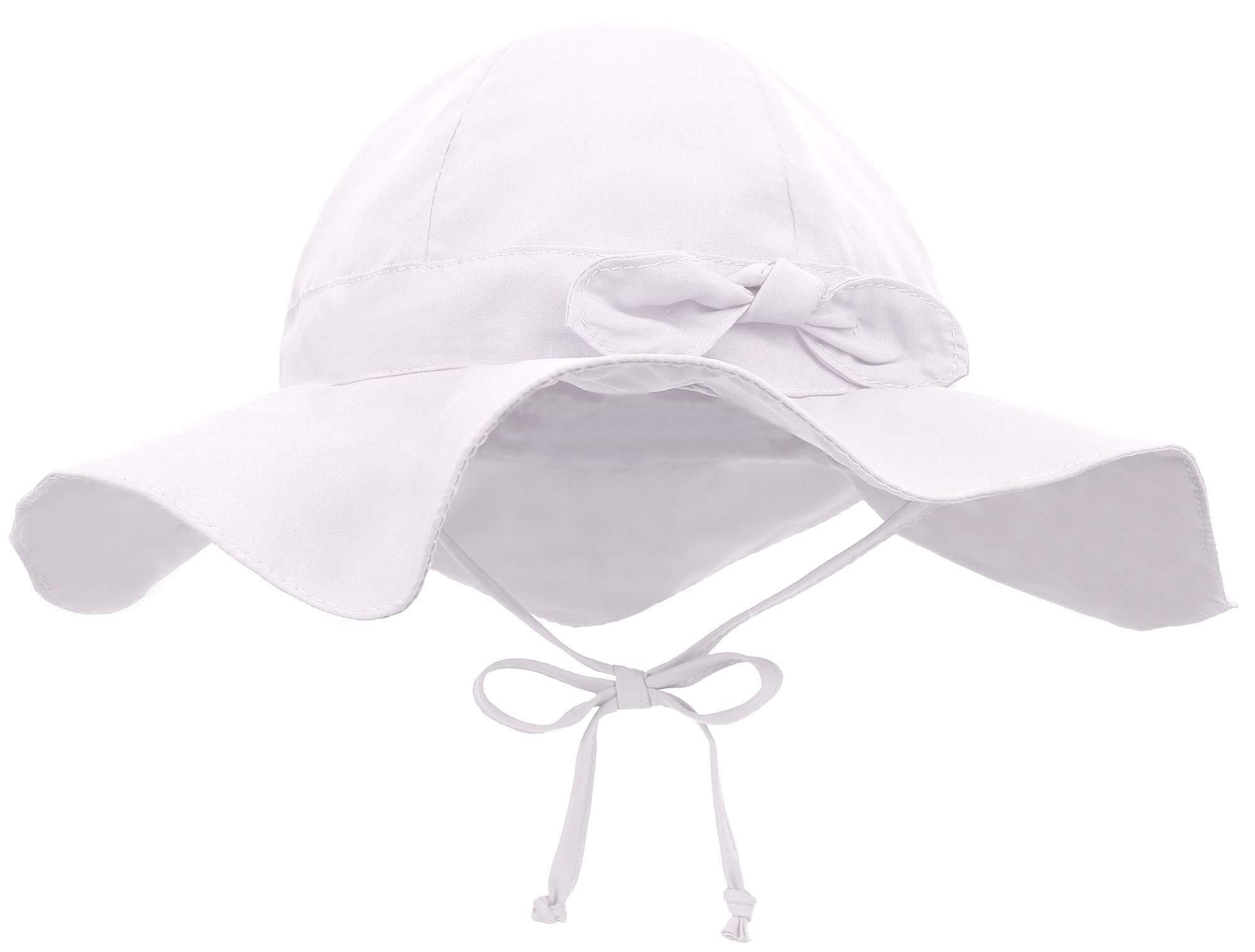 Siero Baby Sun Hat with UPF 50+ Adjustable Kids Cap, White 0-12 Months by Siero