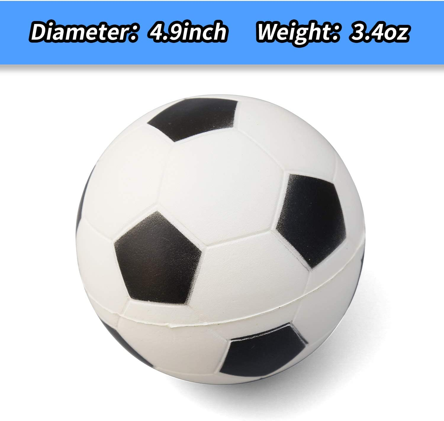 AZToys Set of 4 Soft Foam Sports Balls for Kids /& Toddlers 5 Soccer Ball and 3 Baseball Made for Small Hands 5 Basketball Includes 7 Football