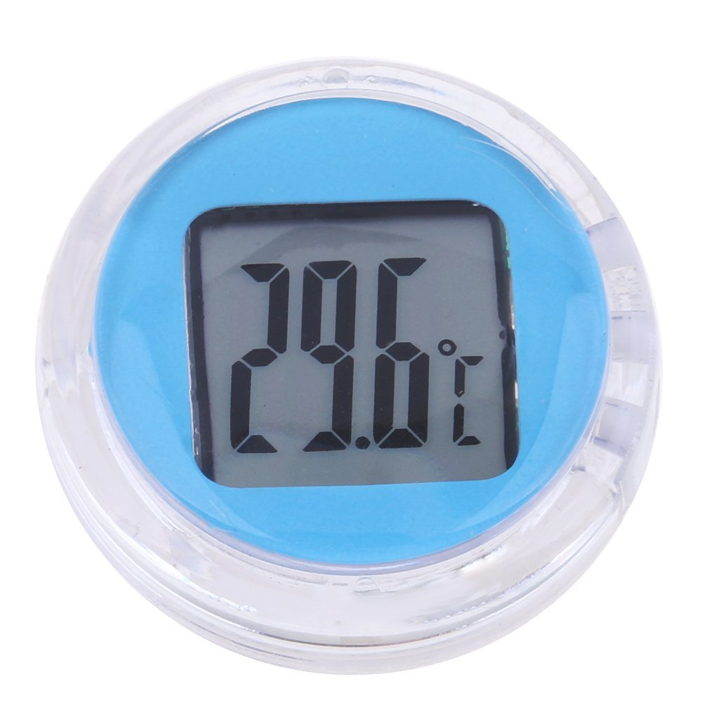 Homyl Universal Motorcycle Scooter Temperature Gauge Meter Digital Thermometer Light Blue