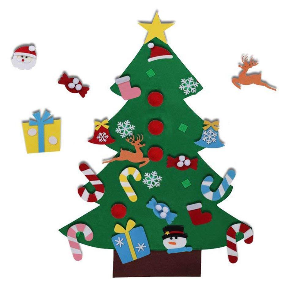 EasyBravo El árbol de Navidad del Fieltro de los 3.6FT DIY fijó + los Ornamentos