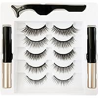 Magnetische Wimpers Met Eyeliner, Herbruikbare Magnetische Wimpers En Magnetische Eyeliner Kit, Geüpgraded 3D…