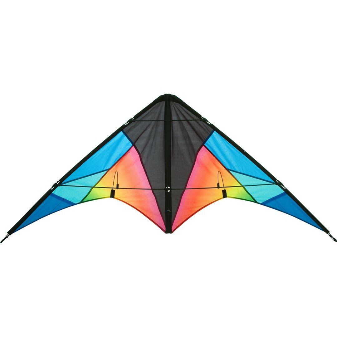 Aquilone acrobatico: Quickstep II - HQ-Invento, colore Chroma, 2 cavi per iniziare, apertura alare 130 cm, maniglie e cavi inclusi. Invento-HQ 11234615