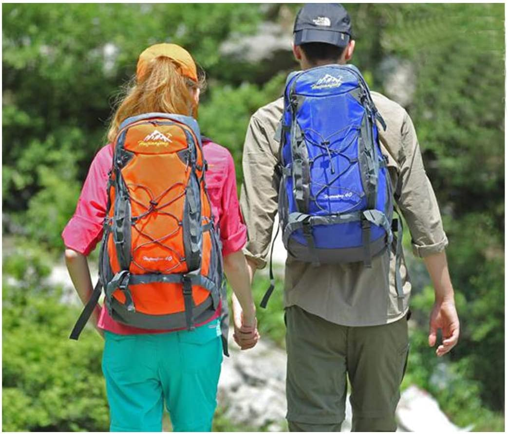 Large-Capacity Outdoor Backpack Color : Yellow Haoyushangmao Backpack Men and Women Lightweight Waterproof Outdoor Hiking Backpack Multi-Color Optional -40L Latest Models
