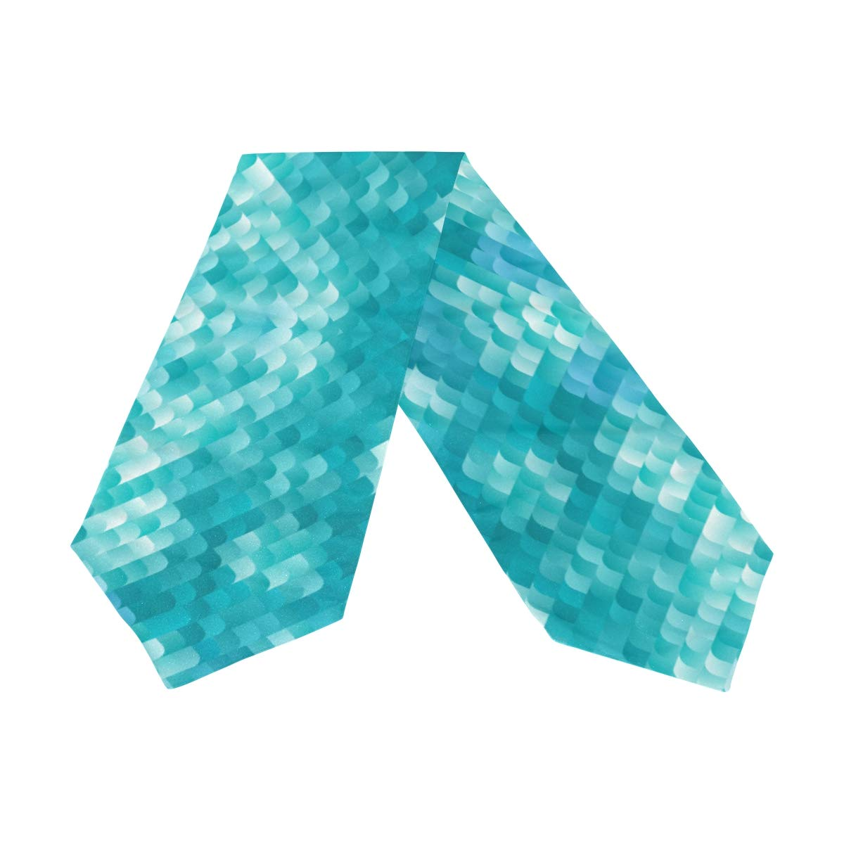 Amazon.com: WOOR Camino de mesa de doble cara azul dinámico ...