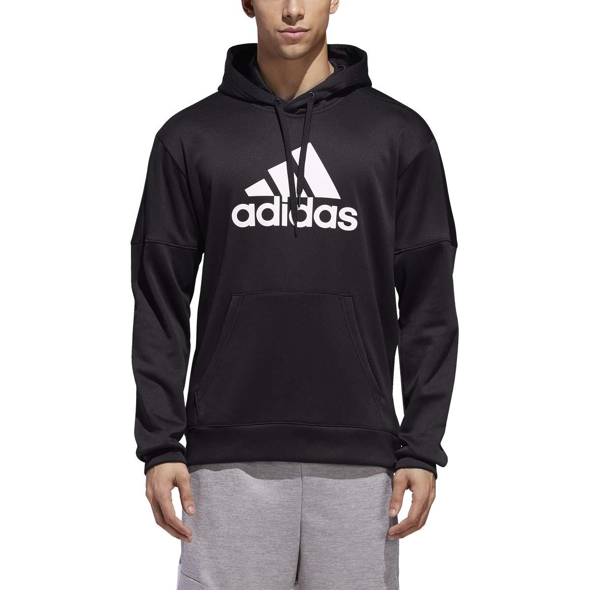 adidas Team Issue Badge of Sport Hoodie - Men's Multi-Sport XLT Black by adidas