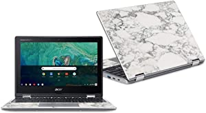 "MightySkins Skin Compatible with Acer Chromebook Spin 11"" CP311 - White Marble 