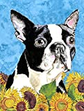 Caroline's Treasures SC9063CHF Boston Terrier Flag Canvas, Large, Multicolor For Sale