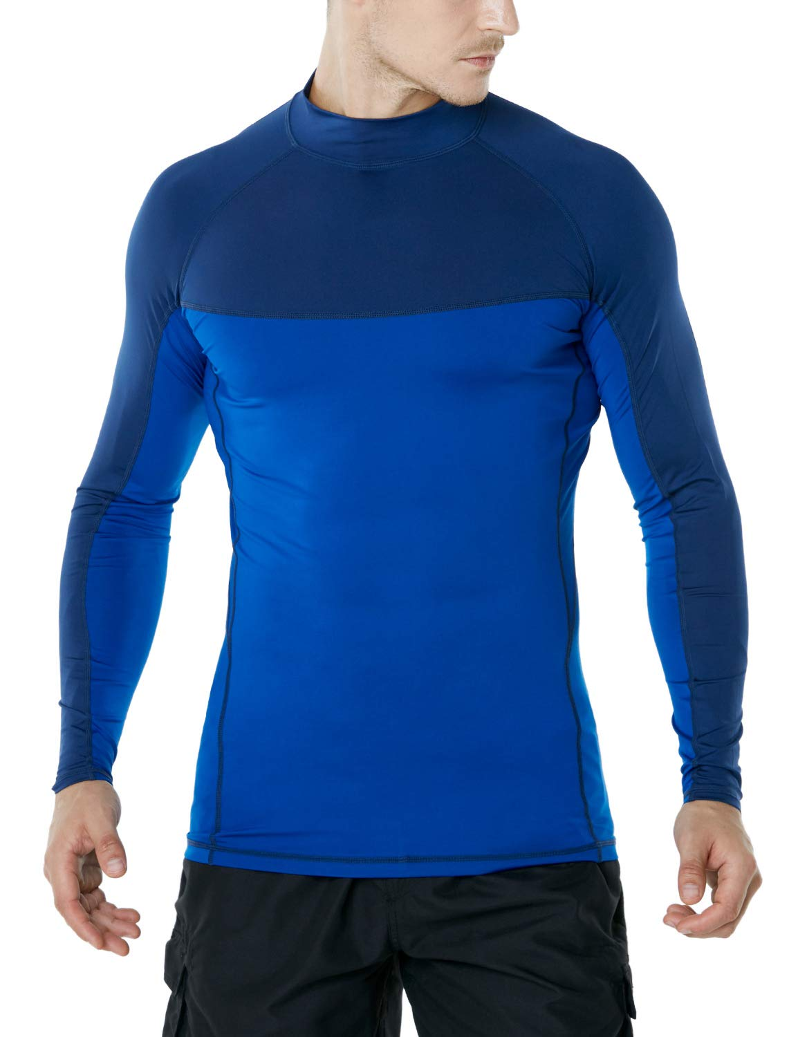 TSLA Mens UPF 50 Long Sleeve Rashguard