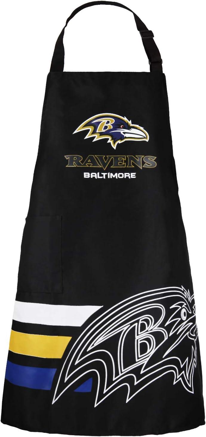 Delantales de barbacoa con bolsillos para fans de Nobrand, Cuervos de Baltimore
