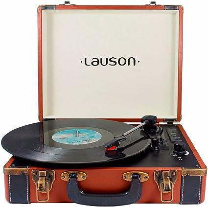 Lauson CL605 Tocadiscos Maletín, Bluetooth, USB, Salida RCA ...