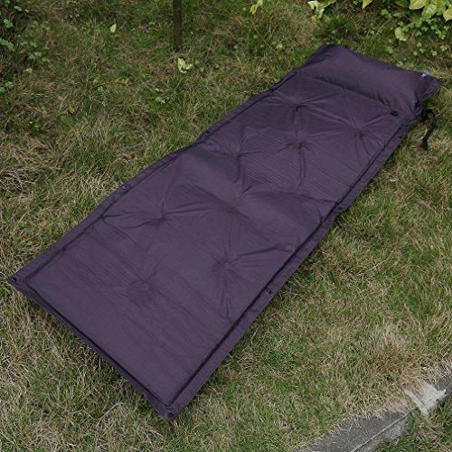 COMOTS Outdoor Camping Folding Self Inflating Air Cushion Beach Mat Mattress Pad Pillow Hiking Damp Proof Sleeping Bed