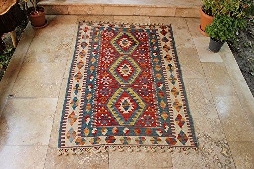 turkish rug kilim rug x ft 109 x 159 cm area rug tapis rug bohemian rug turkish. Black Bedroom Furniture Sets. Home Design Ideas