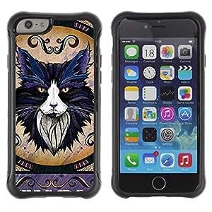 Hybrid Anti-Shock Defend Case for Apple iPhone 6 4.7 Inch / Majestic Cat wangjiang maoyi