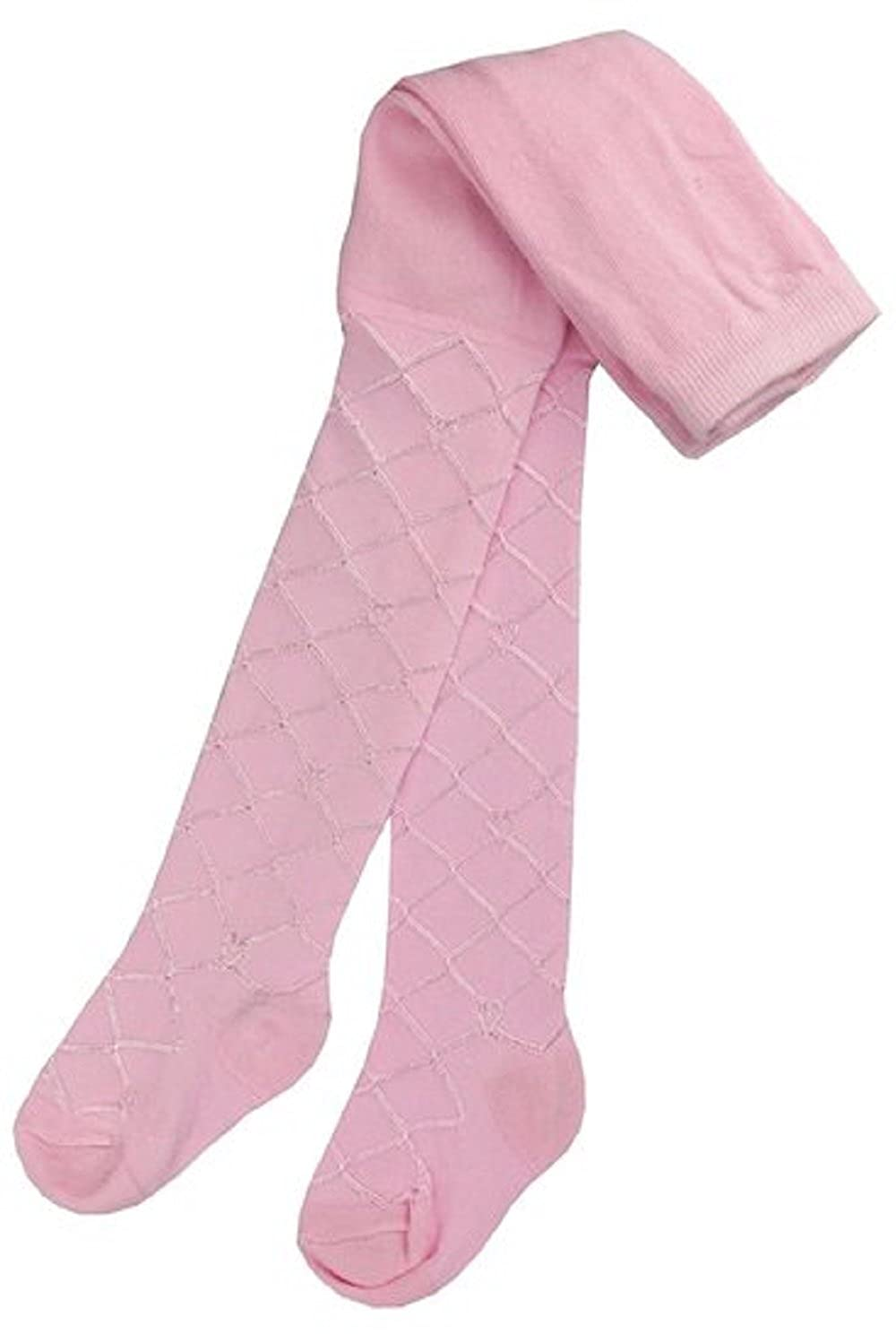 2 x Baby Tights Diamond Silky Lattice Party Christening Style 0-24 Months in Pink, White, Cream