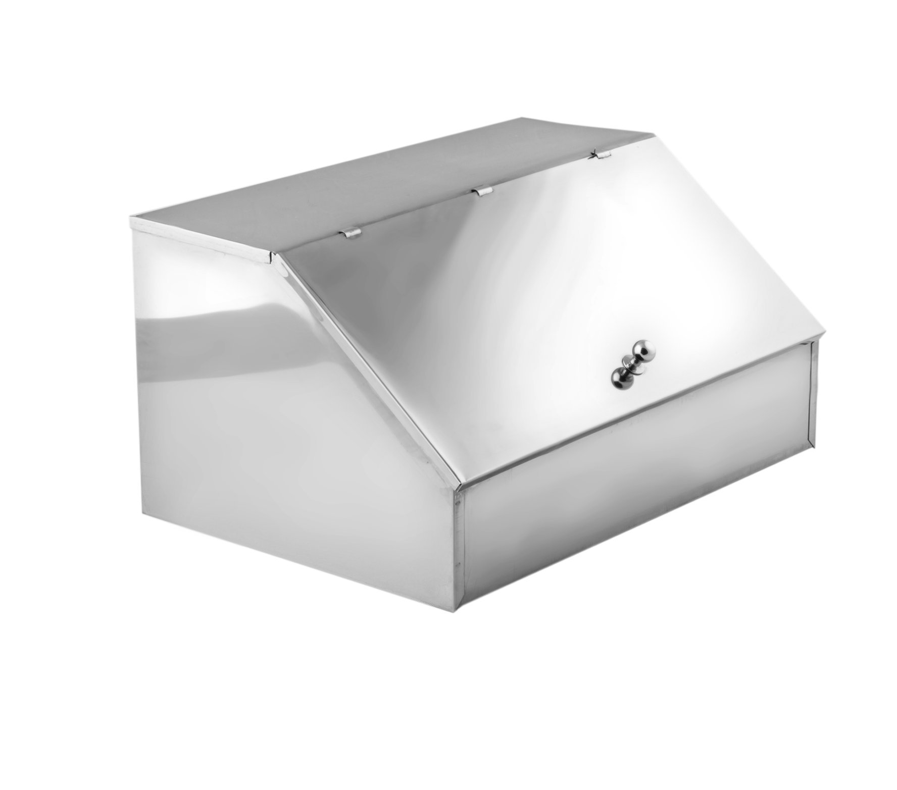 Metano M270030 INOX 2 Cases Coffee Box in Polybag, Large, Stainless Steel, Silver