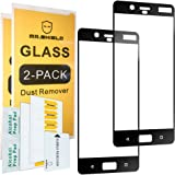 [2-PACK]-Mr Shield For Nokia 8 [Tempered Glass] [FullCover] [Black] Screen Protector with Lifetime Replacement Warranty