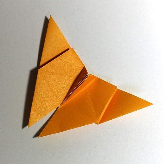 Folded Square Origami Conjunto de regalo de 100 hojas de papel para papiroflexia - Pantone Amarillo 116: Amazon.es: Juguetes y juegos
