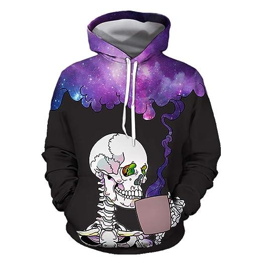 Suéter para Hombres 3D Impresión Digital Cabeza de Halloween Ropa ...