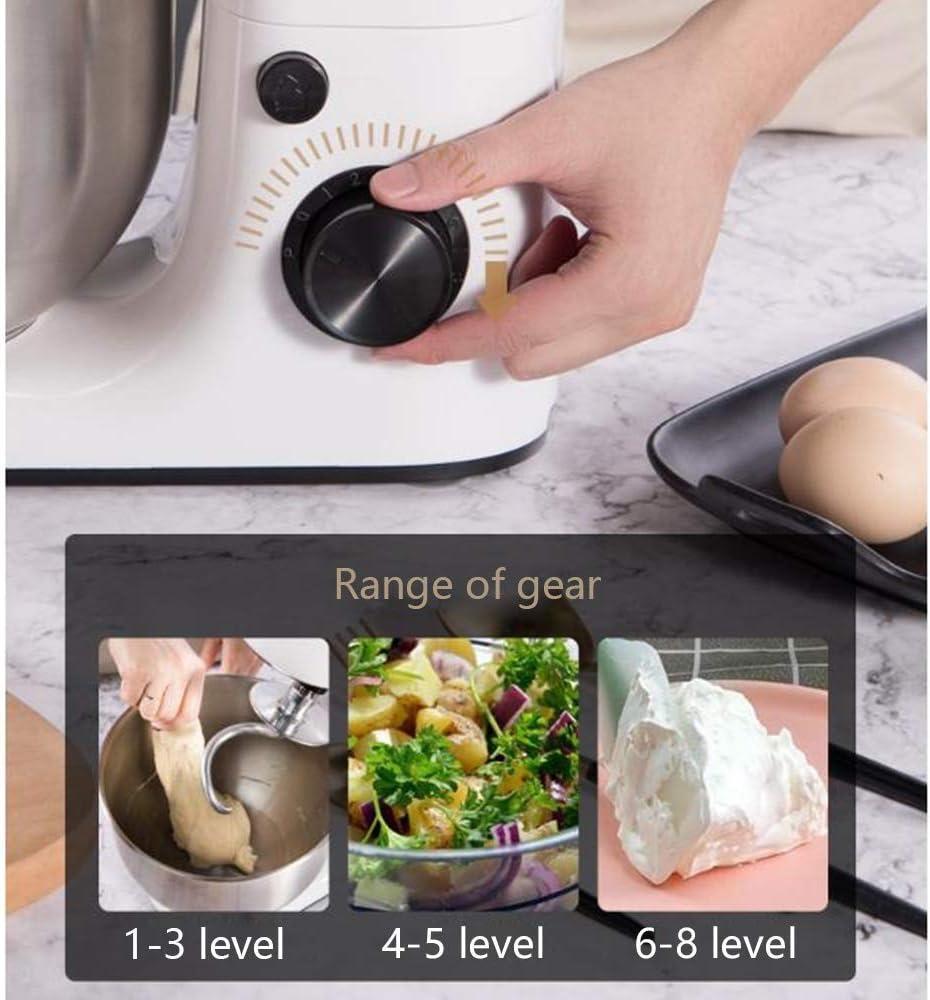 Amasadora de pan Batidora de pie con 5 litros de acero inoxidable Bowl, 800W profesional mezclador de alimentos, el gancho amasador, batidor, batidor potente y elegante robot de cocina: Amazon.es: Hogar