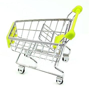 Creatwls simulación de Mini Carrito de la Compra supermercado Carrito de almacenaje pequeña Cesta para los