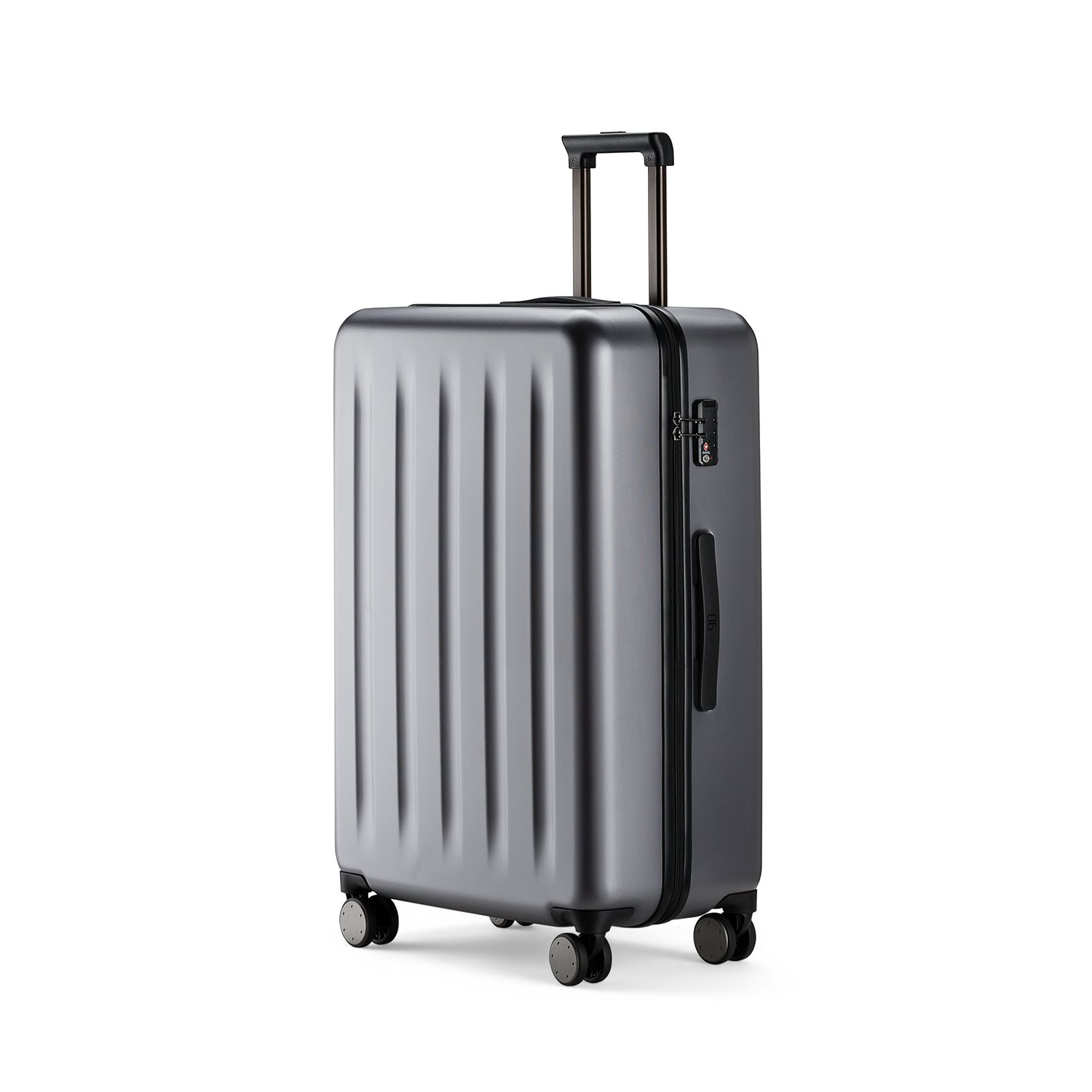 Xiaomi 90FUN 100% PC Suitcase Carry on Spinner Wheel Travel Gear Business Luggage 20''/24''/28'' (24 Inch, Gris plate)