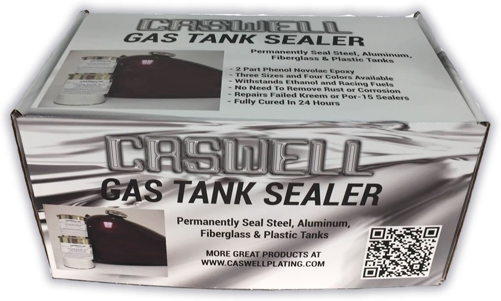 Caswell Epoxy Gas Tank Sealer Motorcycle Kit - Up To 10 Gal. Cans by Caswell