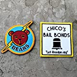 Bad News Bears and Chico's Bail Bonds 100% Embroidered Morale Patch, Velcro Morale Patch by NEO Tactical Gear