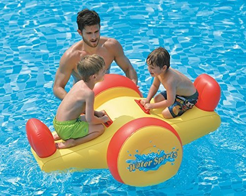 Review Pool Float – Kids Inflatable Seesaw Swimming Pool Water Toy (57″x40.5″x26″)