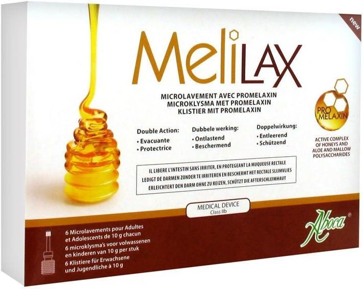 ABOCA Melilax adulto laxante 6 microenemas 10g: Amazon.es: Salud y ...