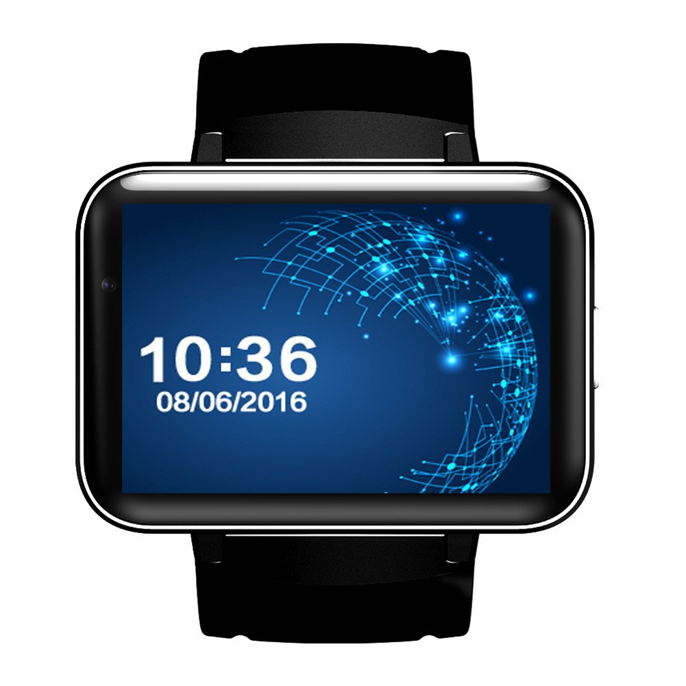Shantan DM98 Smart Watch Card-inserted GPS 2.2'' Display Smart Phone with LED Dual Core 1.2G 900Mah Camera WIFI 3G QQ GPS App For Smartphone by Shantan