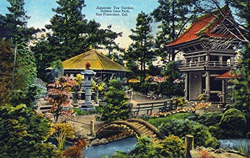 - San Francisco, California - Golden Gate Park Japanese Tea Garden (12x18 Art Print, Wall Decor Travel Poster)