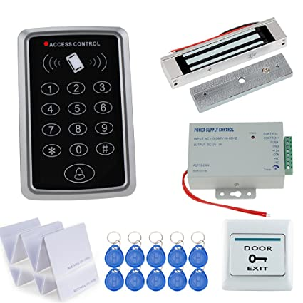 Access Control Original Free Shipping Full Set With Electric Bolt Lock+keypad+power Supply+exit Switch+keys Door Access Control System Kit