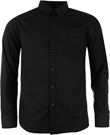 Pierre Cardin - Camisa casual - para hombre negro X-Large ...