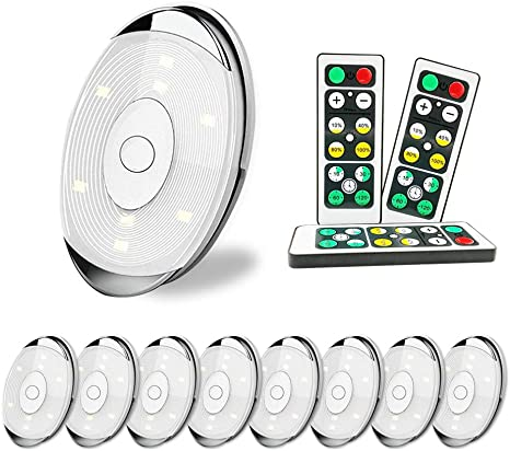 Led Puck Lights 9pack Wireless Led Cabinet Lights With Remote Control Timer And Dimmer Battery Operated Battery Not Including 4000k Warm White