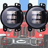Turbo 2pcs 4 Inch 30w Cree Led Fog Lights for Jeep Wrangler 97-15 Jk Tj Lj Off Road Fog Lamps