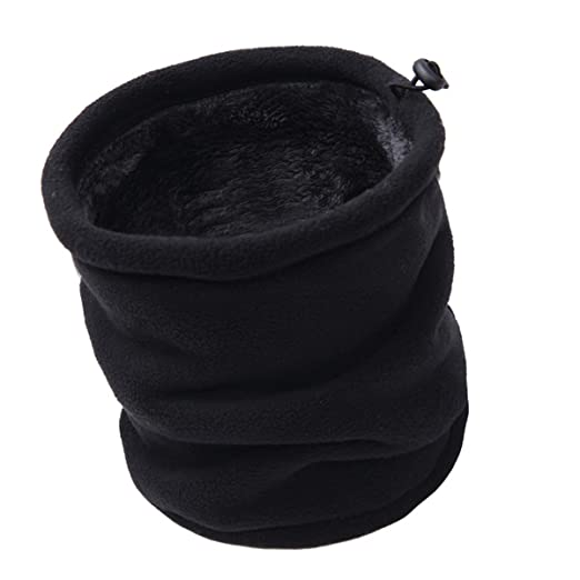 Aiphamy Winter Warm Versatile Polar Fleece Neck Gaiter Neck Warmer Face  Mask Beanie Hat Thermal Snowboarding 9838c3ef88b