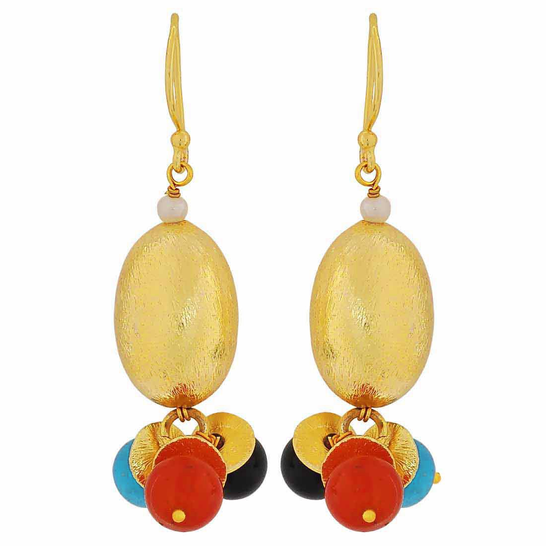 Maayra Hanging Earrings Multicolour Dangler Drop Party Jewellery