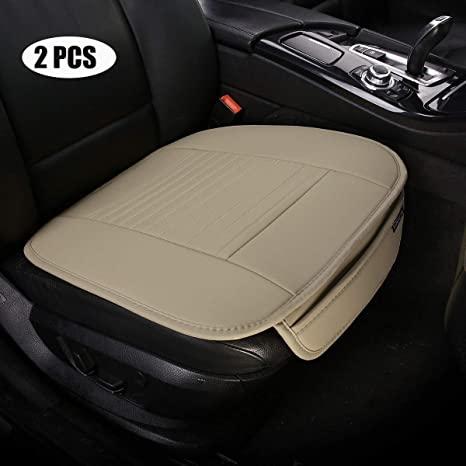 EDEALYN PU Leather Car Seat Covers Universal Protection Office Chair Auto Pad Mat