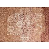 Loloi Rugs, Anastasia Collection - Copper / Ivory Area Rug, 5'-3'' x 5'-3'' Round