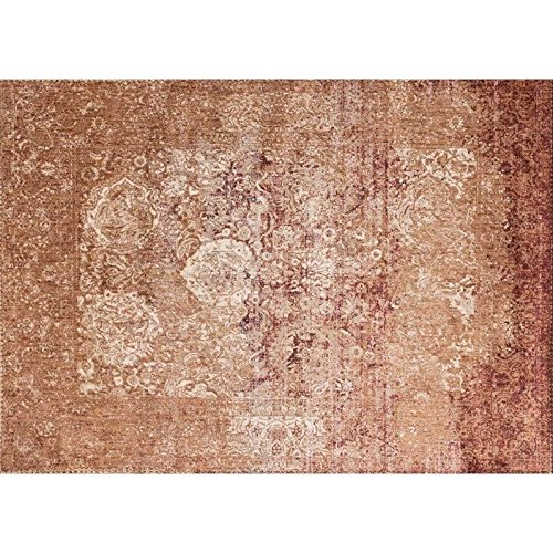Loloi Rugs, Anastasia Collection - Copper / Ivory Area Rug, 5'-3'' x 5'-3'' Round by Loloi