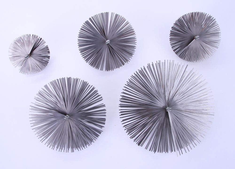 Kaminbesen Schornsteinbesen Kehrbesen Zugbesen Ru/ßbesen aus Federstahl Besen 20cm, Flexstange 8m Schubstange Flexstange Set Verschiedene Gr/ö/ßen