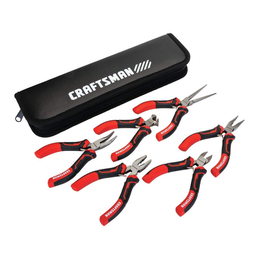 CRAFTSMAN Pliers, 6-Piece Mini Set with Pouch (CMHT81716) by Craftsman