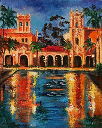 Dusk in Balboa - San Diego Balboa Park by internationally renown painter Yary - Painters San Diego
