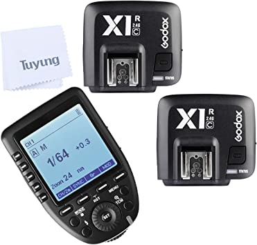 Godox Xpro-C E-TTL II 2.4G X System Wireless Control Remote Trigger with 2X X1R-C Controller Receiver Compatble for Canon Flash