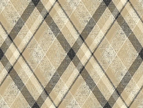 (Décor Direct YWHO3354 Biscayne Roll of Plaids/Checks Decorative Hanging Wallpaper, Tan)